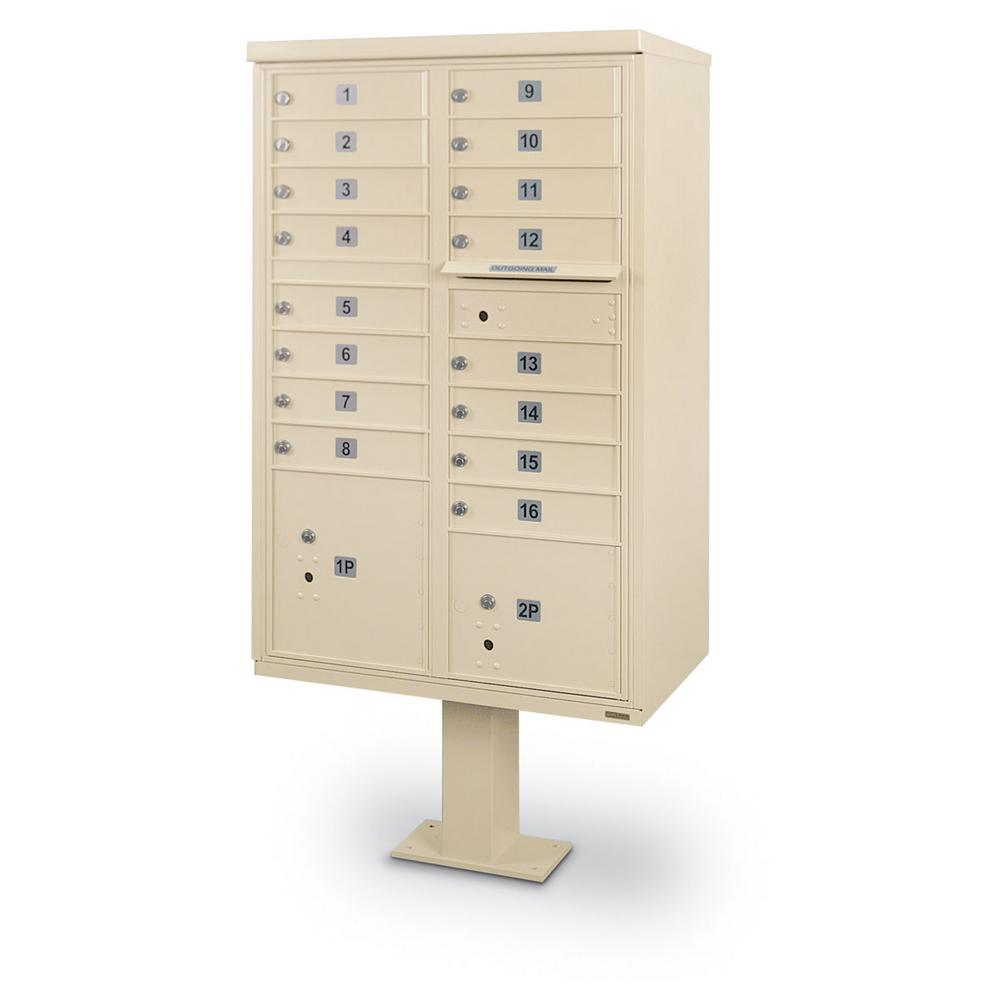 16-Door F-Spec Cluster Box Unit with Pedestal